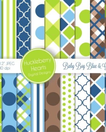 Baby Boy Digital Scrapbook Paper