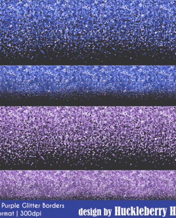 Blue And Purple Glitter Borders Clipart