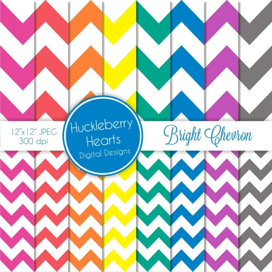 Bright Chevron Digital Backgrounds