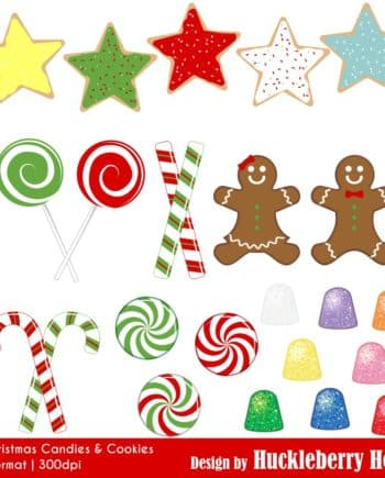 Christmas Candies and Cookies Clipart
