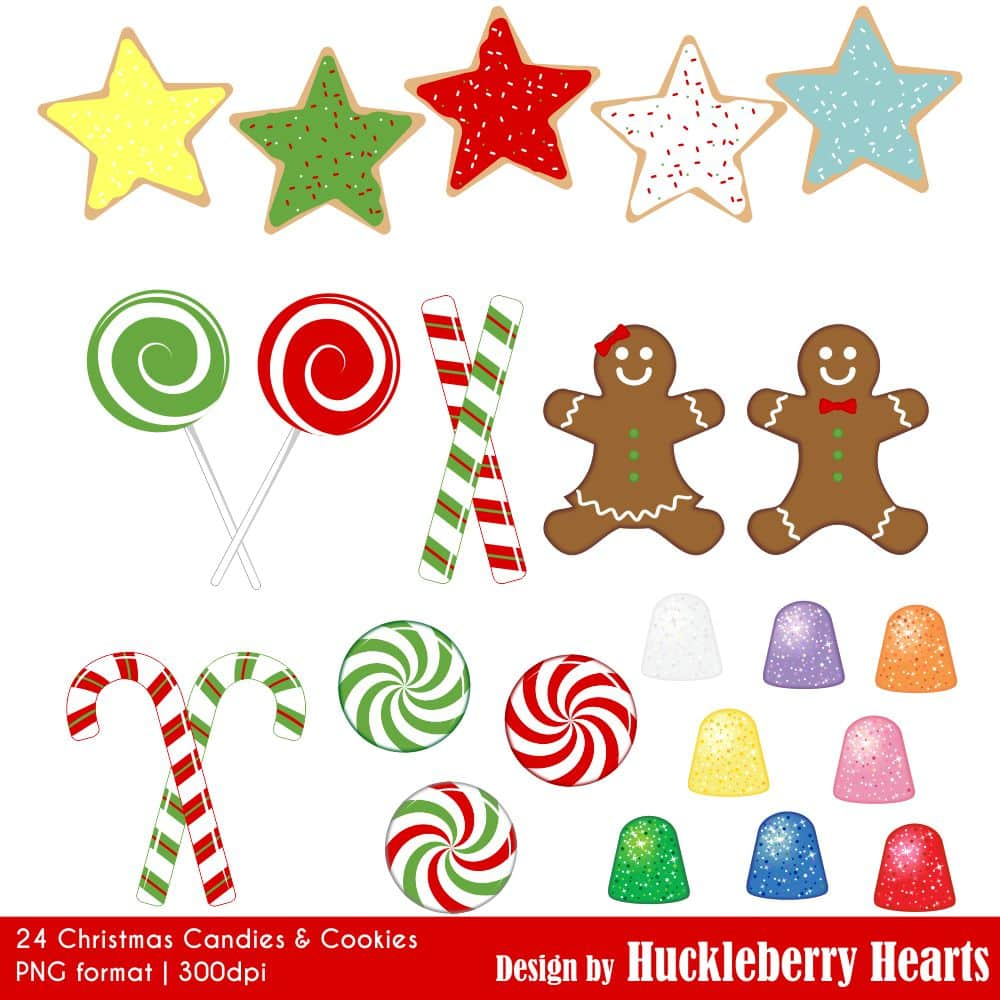 Christmas Candies.Christmas Candies And Cookies Clipart