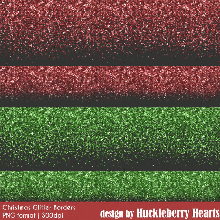 Christmas Glitter Borders Clipart