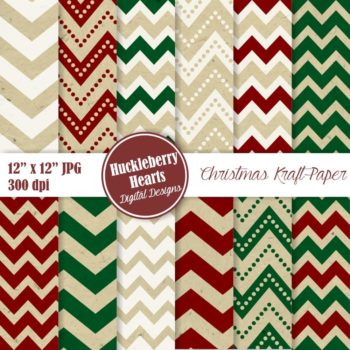 Christmas Digital Kraft Paper