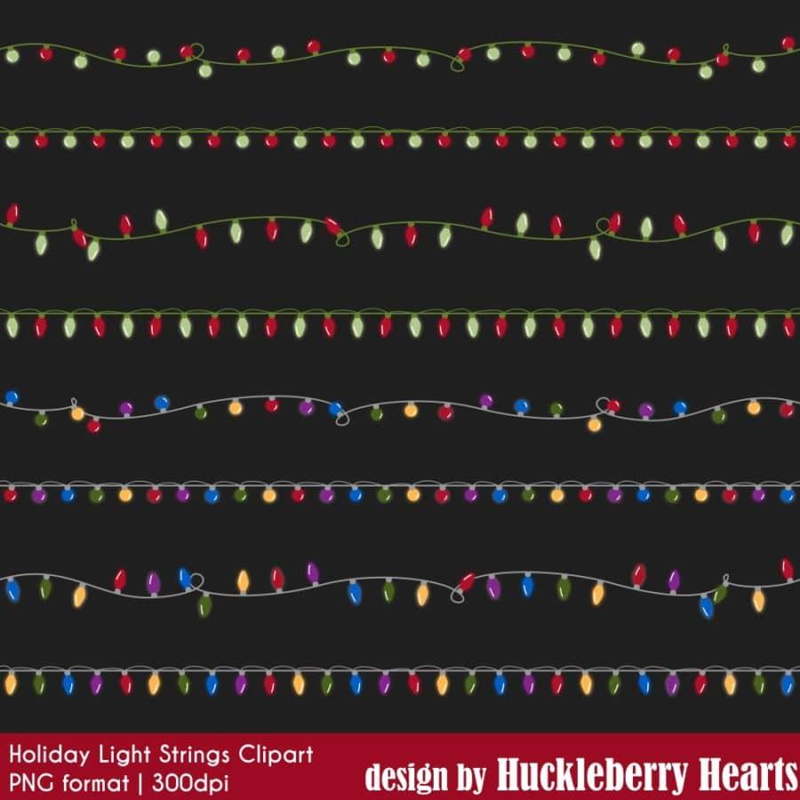 Christmas Light Strings Clipart
