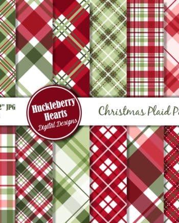 Christmas Plaid Digital Paper