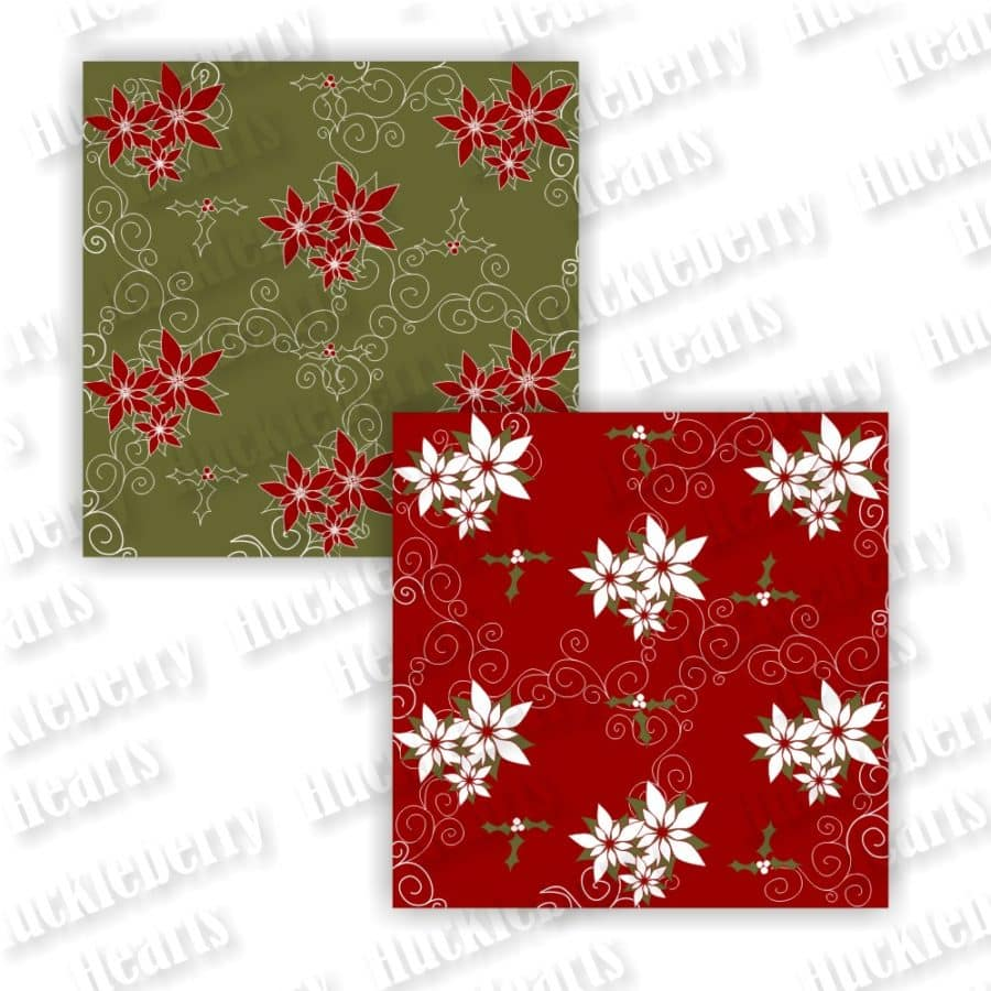Christmas Red and Green Digital Paper