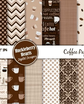 Coffee Digital Scrapbook Paper
