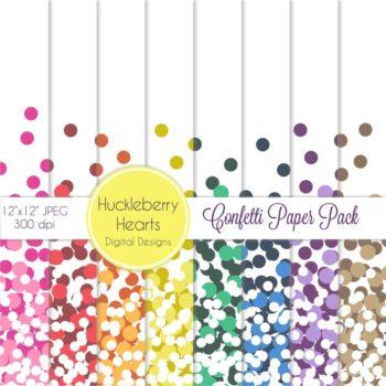 Confetti Digital Scrapbook Paper