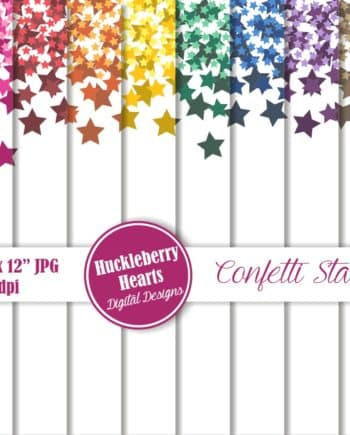 Confetti Stars Digital Scrapbook Paper