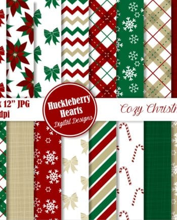 Cozy Christmas Digital Paper