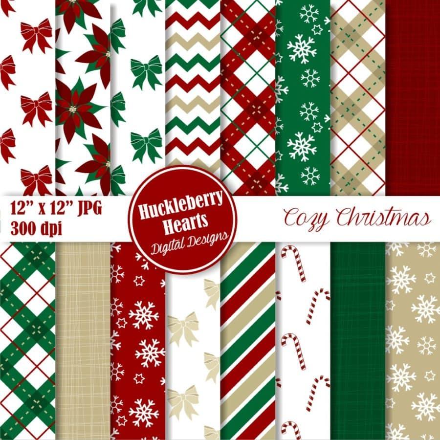 Cozy Christmas Digital Paper