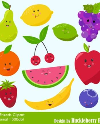 Fruity Friends Clipart