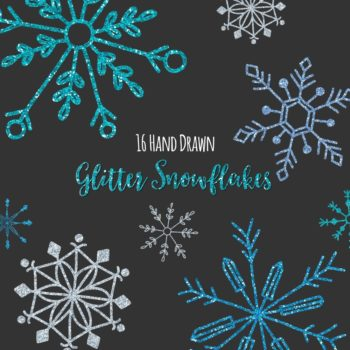 Glitter Snowflakes Clipart