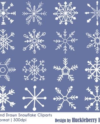 Hand Drawn Snowflake Clipart