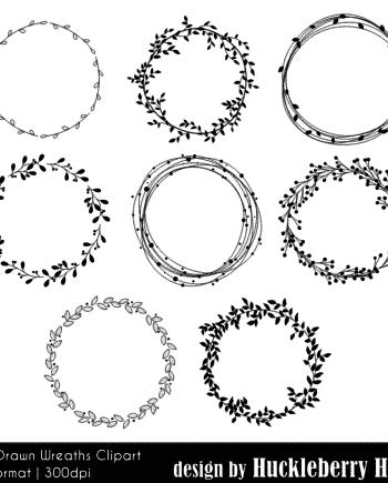 Hand Drawn Wreath Clipart