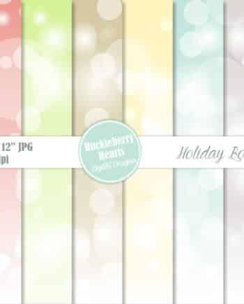 Holiday Bokeh Digital Paper