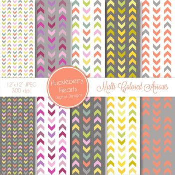 Multi Colored Arrows Digital Paper