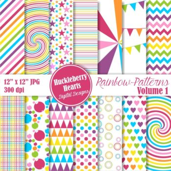 Rainbow Patterns Vol 1 Digital Paper