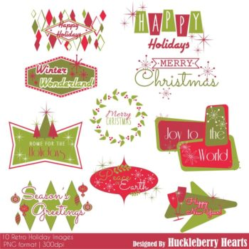 Retro Holiday Images Clipart