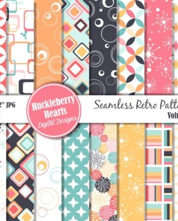 Retro Seamless Patterns Vol 1 Digital Paper
