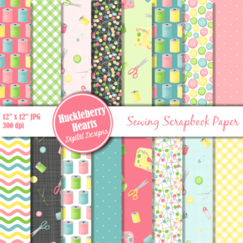 Sewing Scrapbook Paper