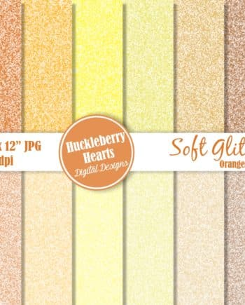 Soft Glitter Orange And Gold Digital Paper
