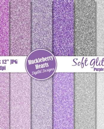 Soft Glitter Purple And Gray Digital Paper