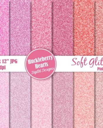 Soft Glitter Red And Pink Digital Paper