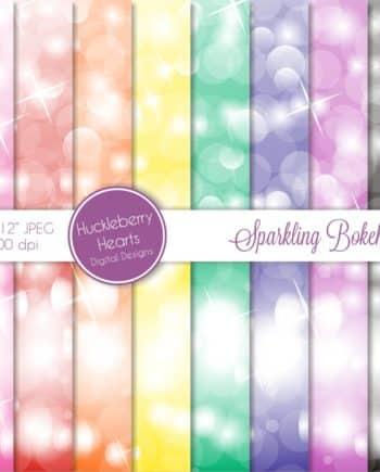 Sparkling Bokeh Digital Paper