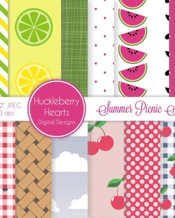 Summer Picnic Digital Paper