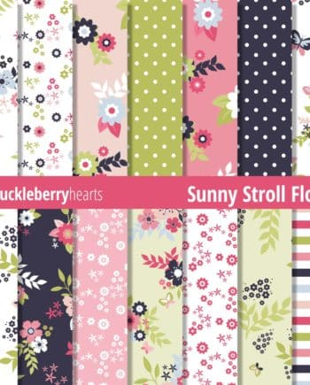 Sunny Stroll Floral Paper