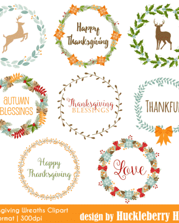 Thanksgiving Wreaths Clipart