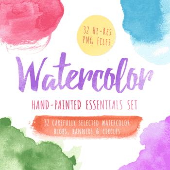 Watercolor Essentials Clipart