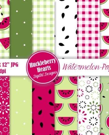 Watermelon Digital Scrapbook Paper