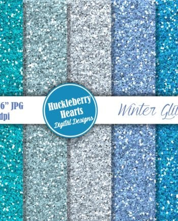 Winter Glitter Digital Paper