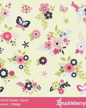 Sunny Stroll Flower Clipart