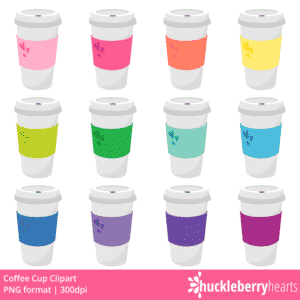Rainbow Coffee Cup Clipart