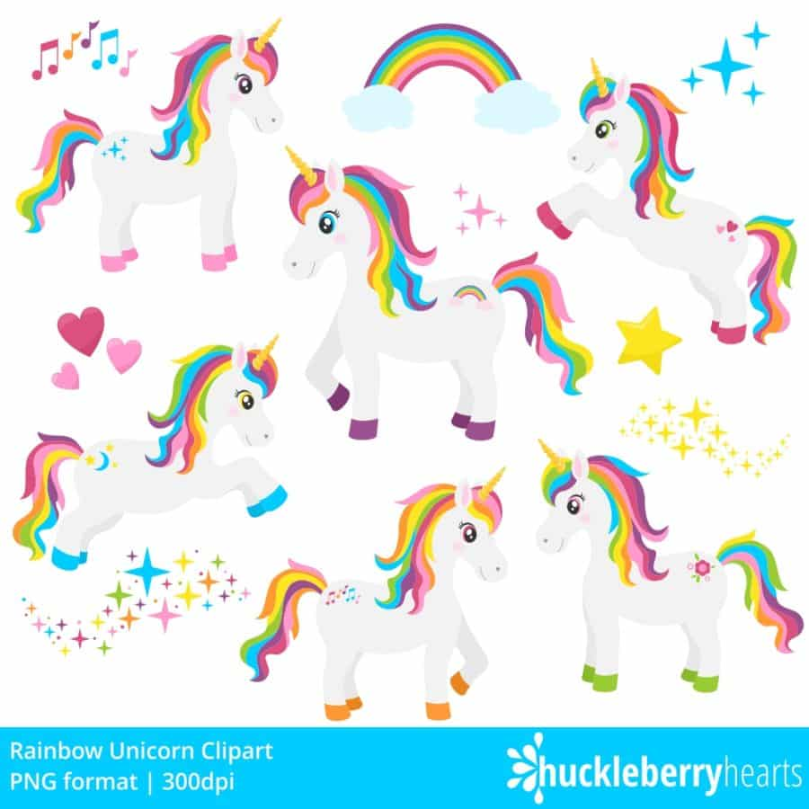 Rainbow Unicorn Clipart