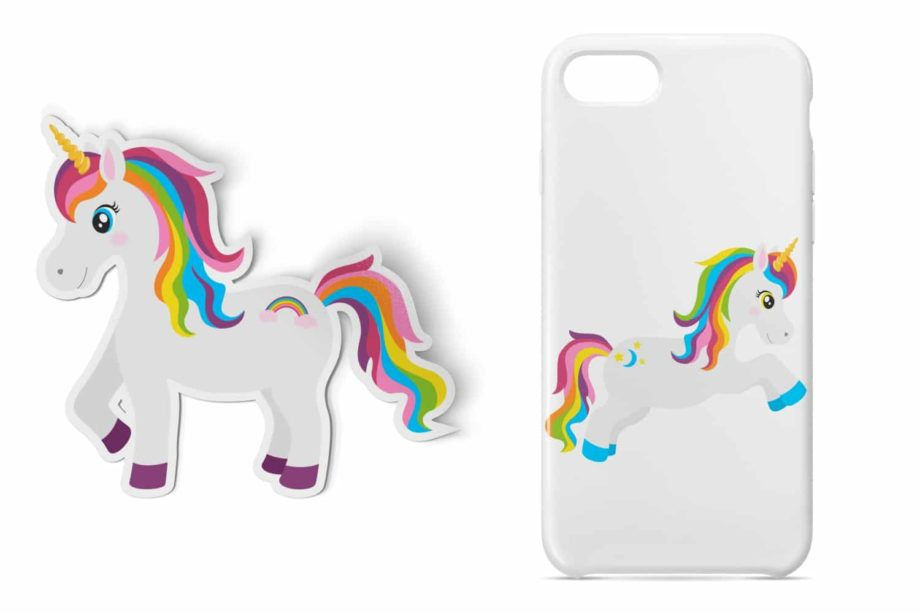 Rainbow Unicorn Clipart Sample 5