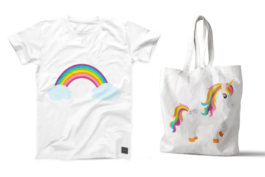 Rainbow Unicorn Clipart Sample 6
