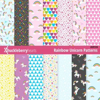 Rainbow Unicorn Seamless Images