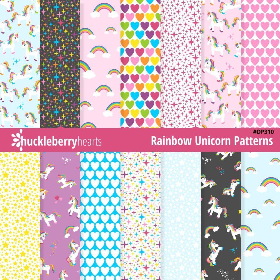 Rainbow Unicorn Seamless Images