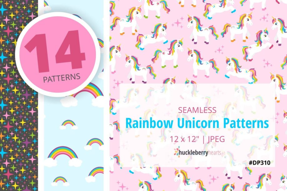 Rainbow Unicorn Paper Sample 2