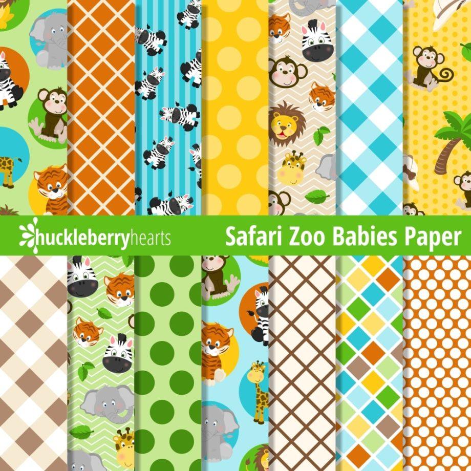Safari Zoo Babies Paper