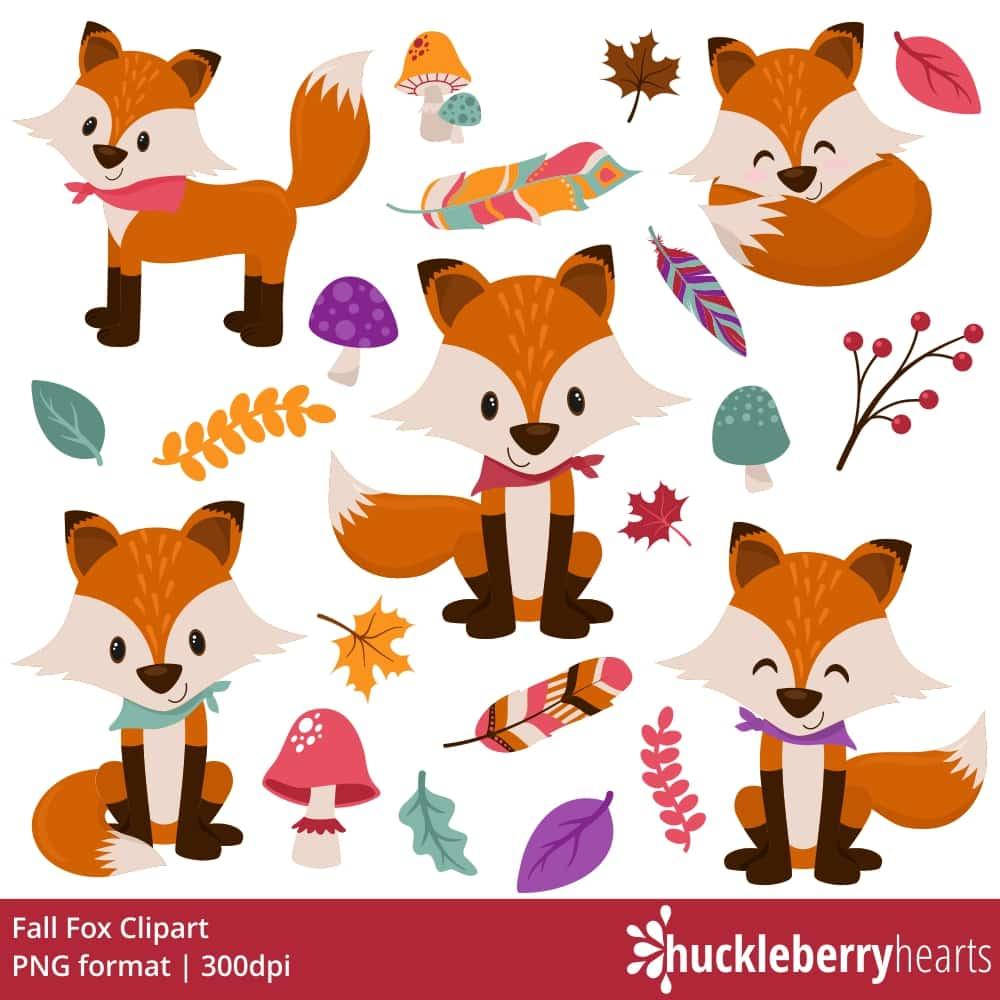 Fall Fox Clipart