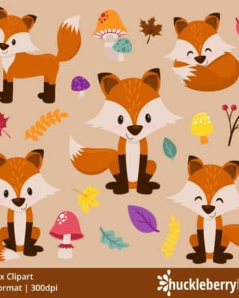 Fall Fox Clipart