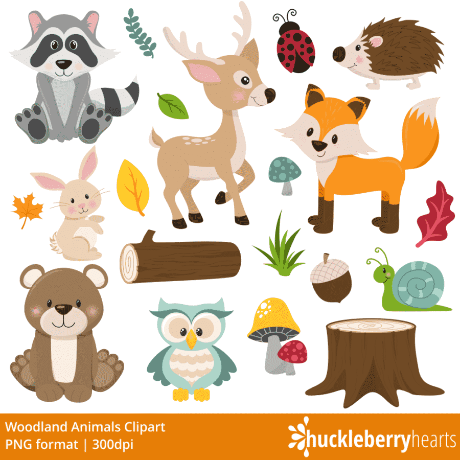 Woodland Friends Clipart
