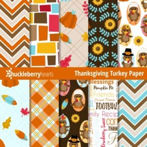 Thanksgiving Turkey Digital Paper