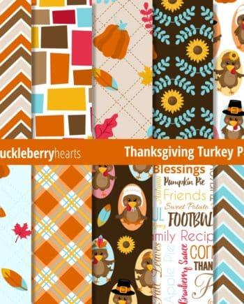 Thanksgiving Turkey Digital Paper