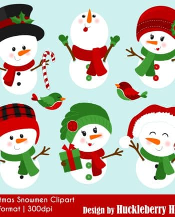 Christmas Snowmen Clipart